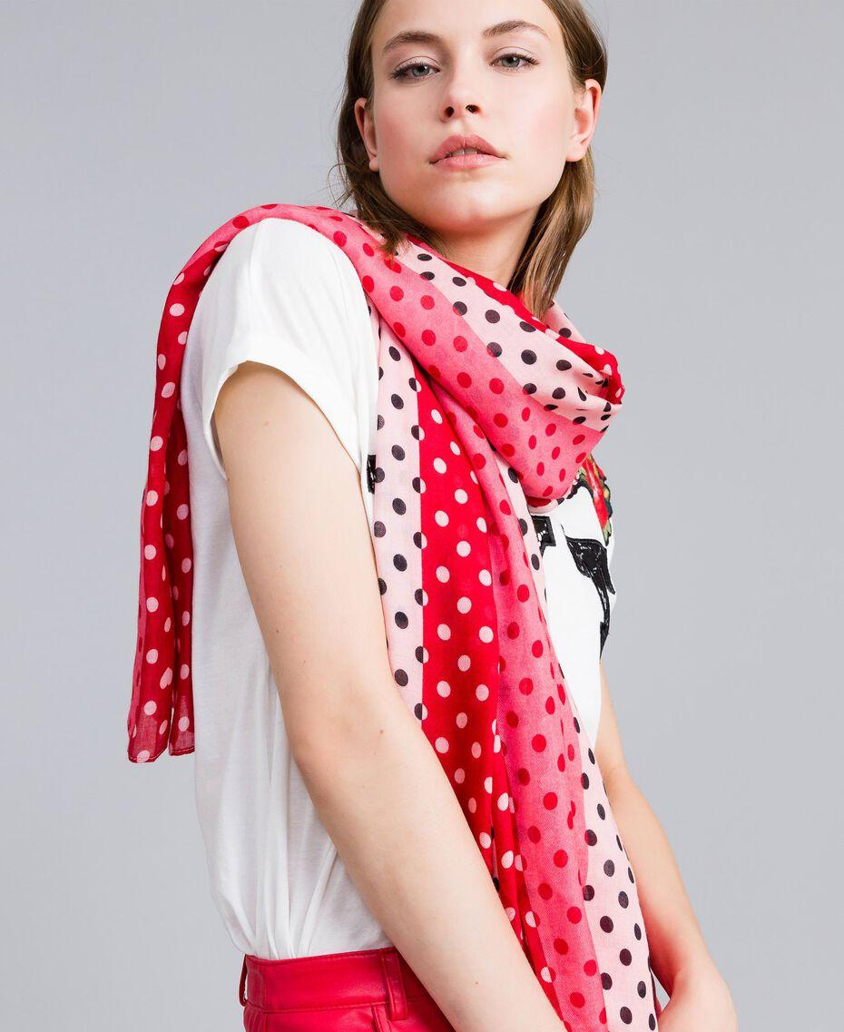 Écharpe imprimée à pois Imprimé Pois Rose Chic Femme VA8P1H-0S