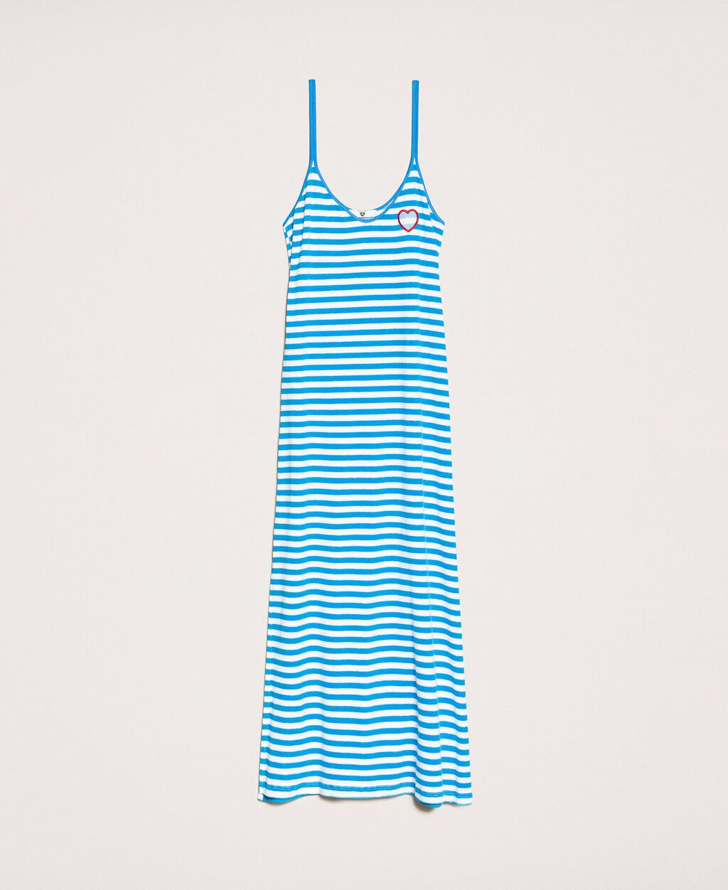 Striped terry cloth long dress