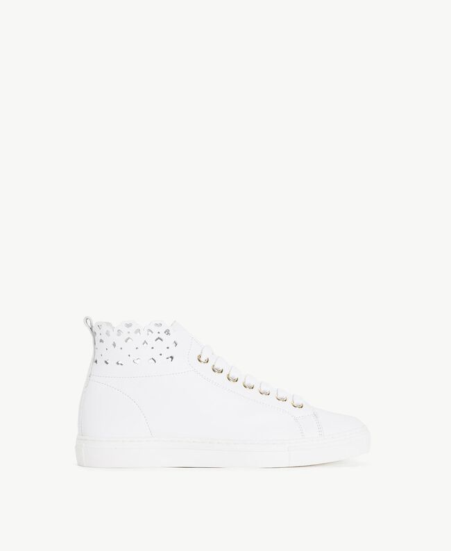 TWINSET Scalloped sneakers White Woman CS8TFU-01