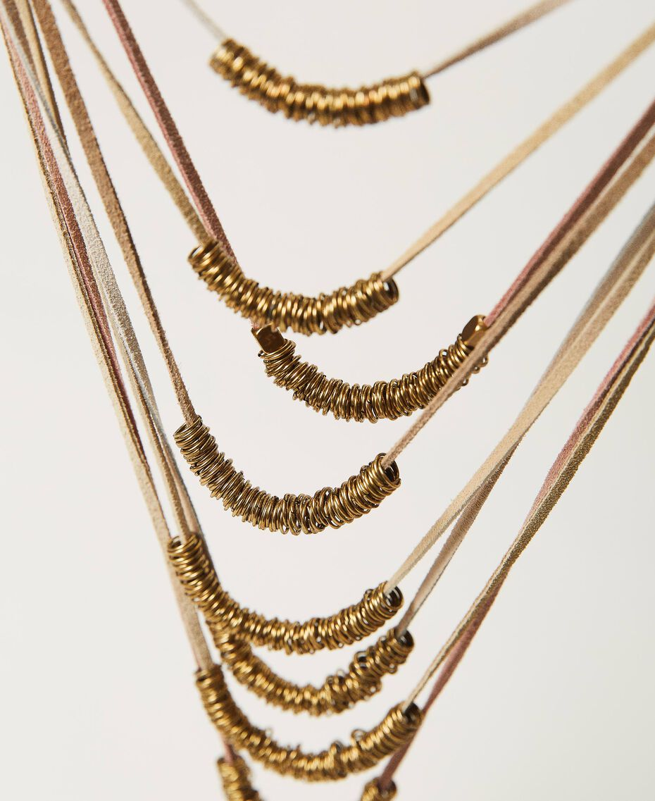 Collier multirang avec perles en métal Multicolore Rubans Laiton Vieilli Femme 211TO501G-02