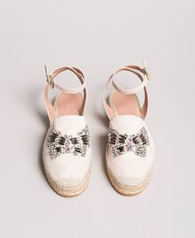 Leather espadrilles with jewelry butterfly Bud Pink Woman 191TCP10A-04