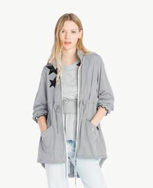 Star parka Optical White Stripe / Black Woman JS82B2-01