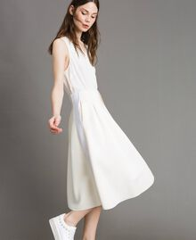 "Full scuba skirt ""Silk"" White Woman 191TP2065-01"