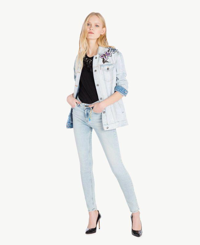 Skinny jeans Denim Blue Woman JS82WG-05