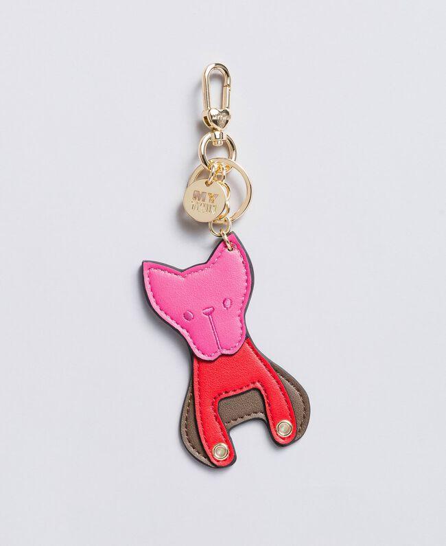 Schlüsselanhänger mit mehrfarbigem Haustier Hund Frau RA8TJA-01
