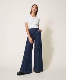 Свободные прямые джинсы с карманами Тёмный Деним женщина 202MP222C-02