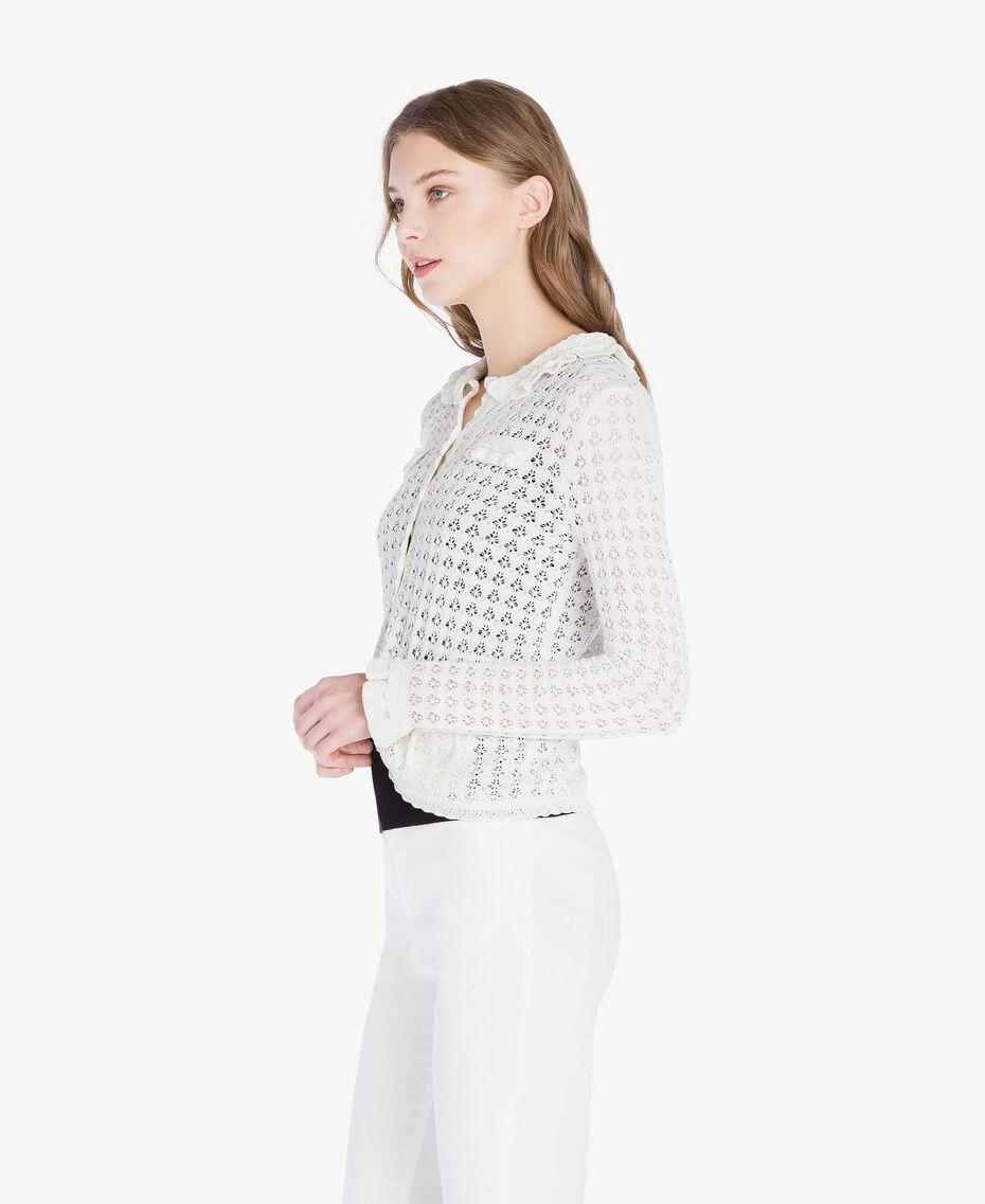 Cotton mandarin collar top Mother Of Pearl Woman TS83AQ-02