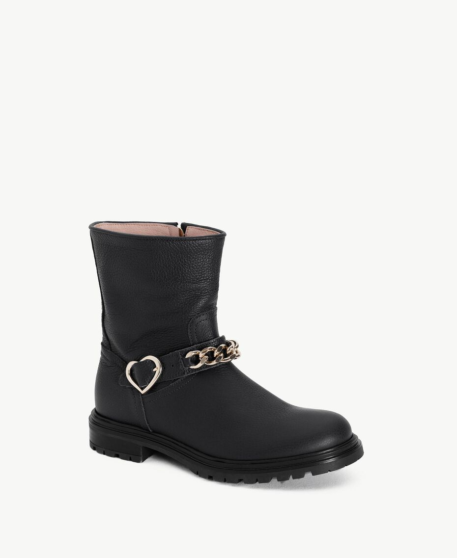 Botas con corazón Negro HA78BQ-02