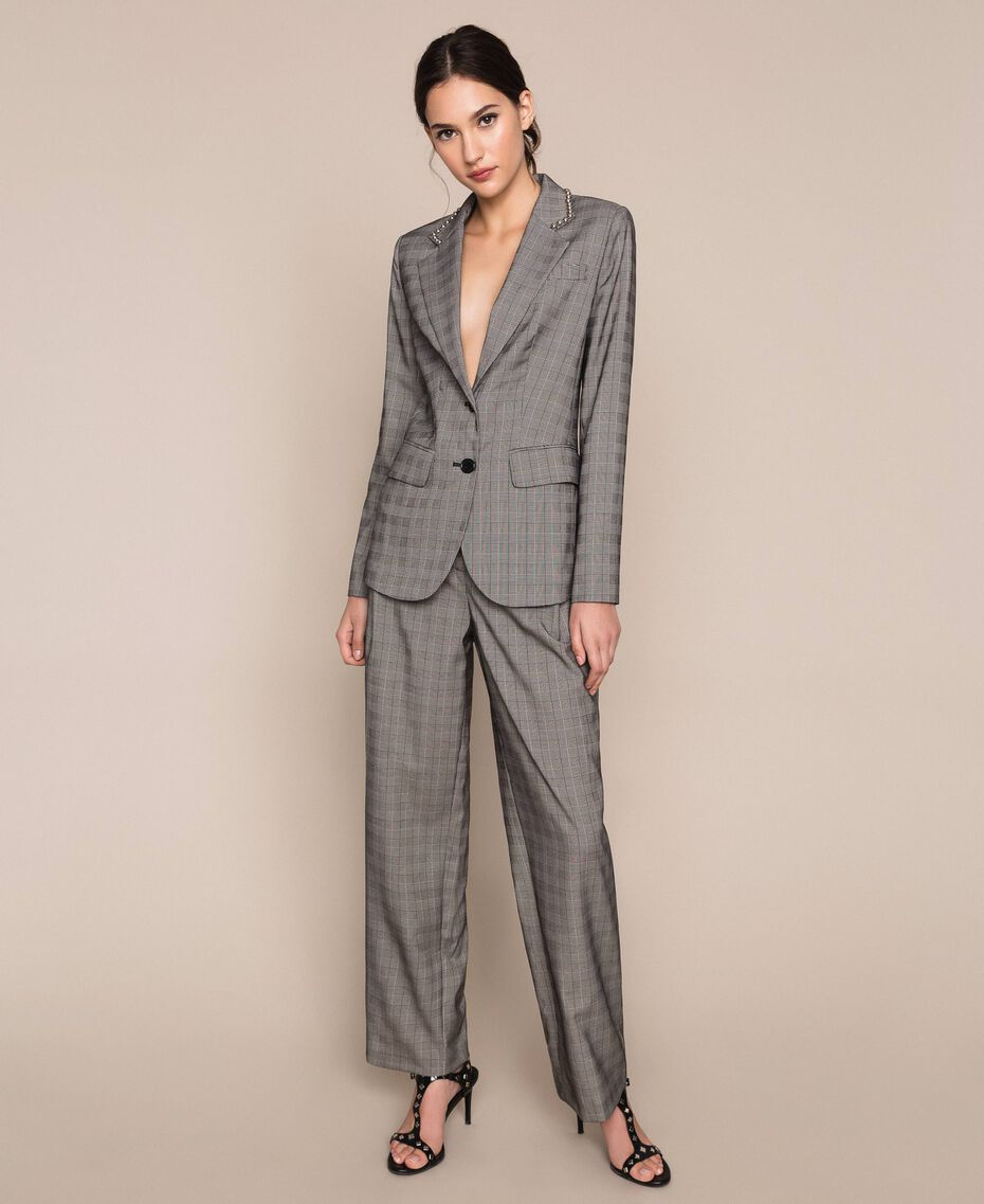 Glen plaid blazer Multicolour Glen Plaid Woman 201MP2060-01