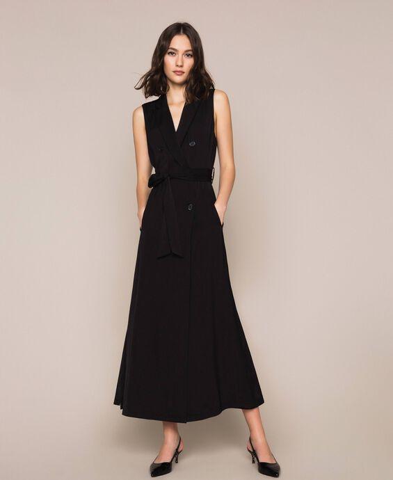 Long satin waistcoat dress