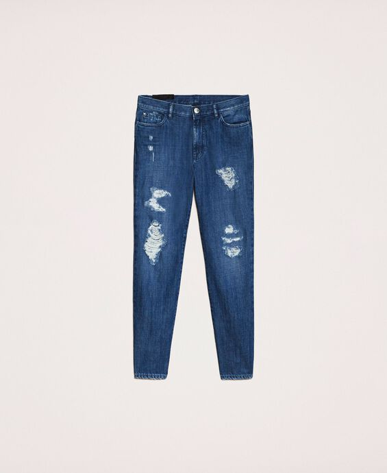 Girlfriend jeans with rips