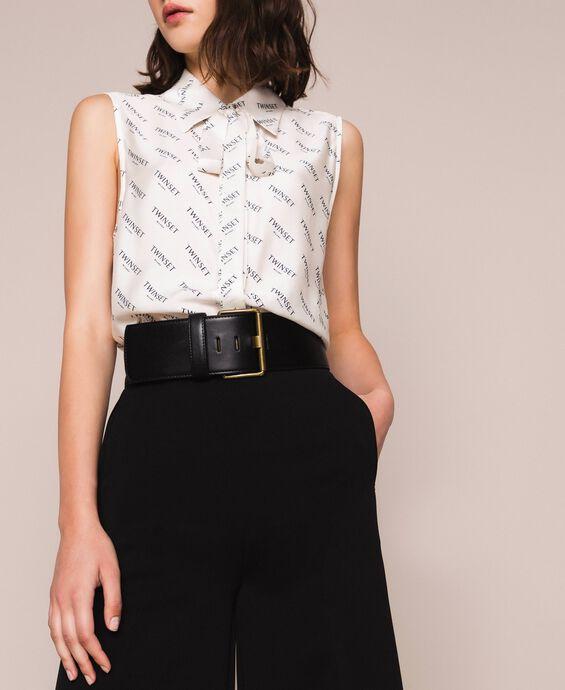 High waist faux leather maxi belt