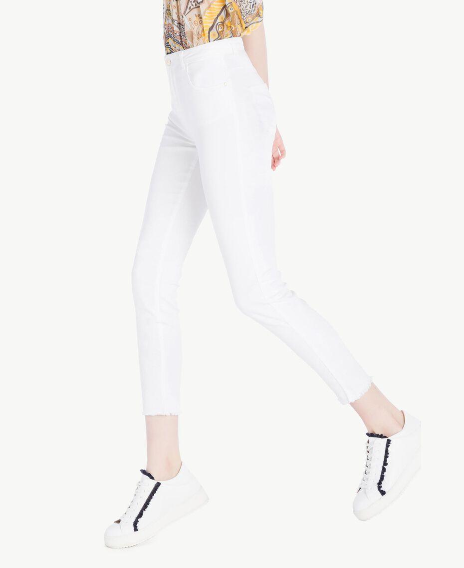 Pantalon skinny Blanc Femme SS82NA-02