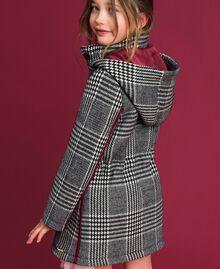 Houndstooth wool blend parka coat White / Black Houndstooth Child 192GJ2110-03
