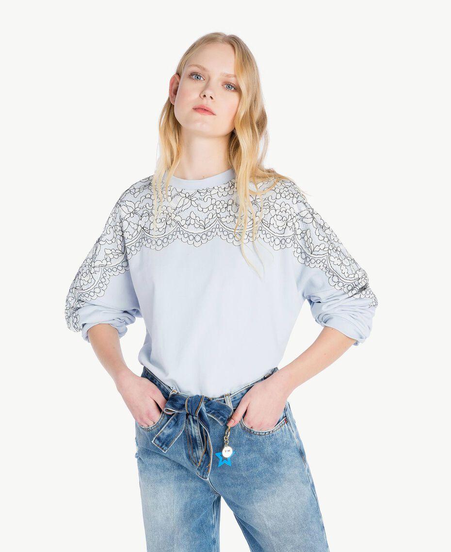 Lace sweatshirt Topaze Sky Blue Woman JS82H1-01