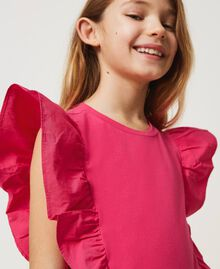 """Top with gathered sleeves """"Fuchsia Purple"""" Pink Child 211GJ2238-04"""