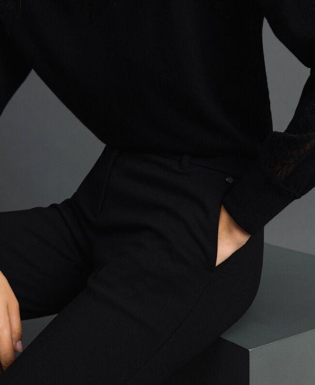Pantalon évasé Noir Femme 192TP2092-04
