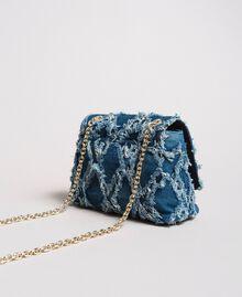 "Umhängetasche aus Jeans im Patchwork-Look ""Arabian Blue"" Blau Frau 191MA7083-03"