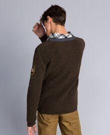 Pull en laine mélangée Vert Alpin Homme UA83DA-03