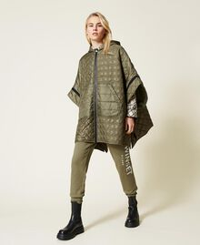 Padded cape with logo Alpine Green Woman 212TP2150-02