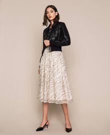 Куртка из искусственной кожи на высоком поясе Черный женщина 201MP2030-0T