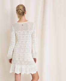 Robe en maille façon dentelle Blanc Neige Femme 201TP3210-04