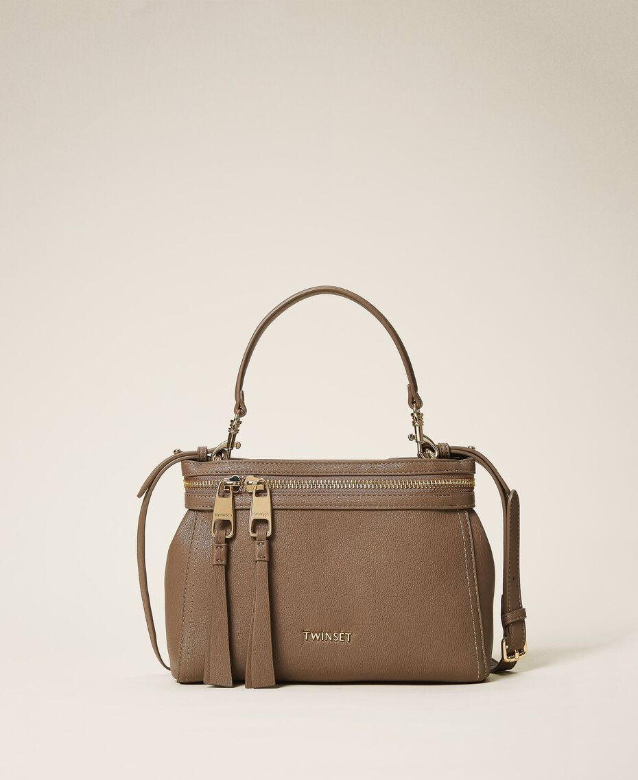 Small faux leather New Cécile bag Turtledove Woman 202TB7181-01