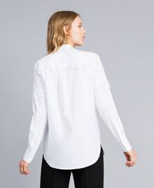 Camicia in popeline di cotone Bianco Donna TA82XP-03
