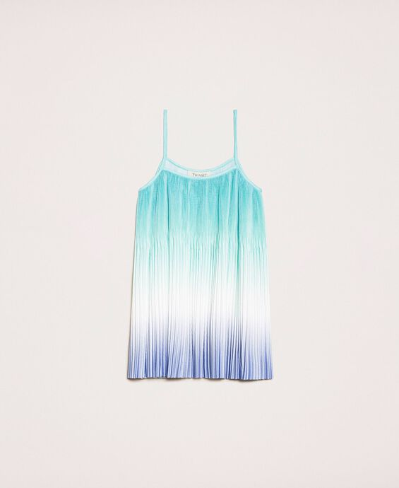 Fadeout pleated satin top