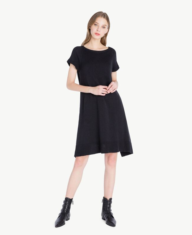 Lace dress Two-tone Black / Light Ecru Woman PS8371-01