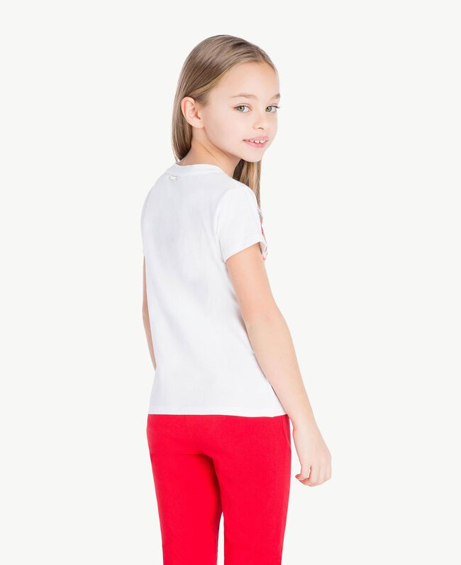 """T-shirt imprimé Blanc """"Papers"""" Enfant GS82SP-04"""