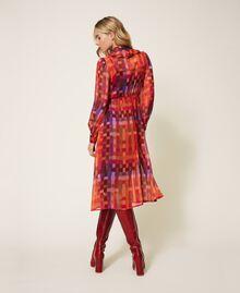 Printed lurex creponne dress Lurex Gerbera Multicolour Print Woman 202MT2410-03