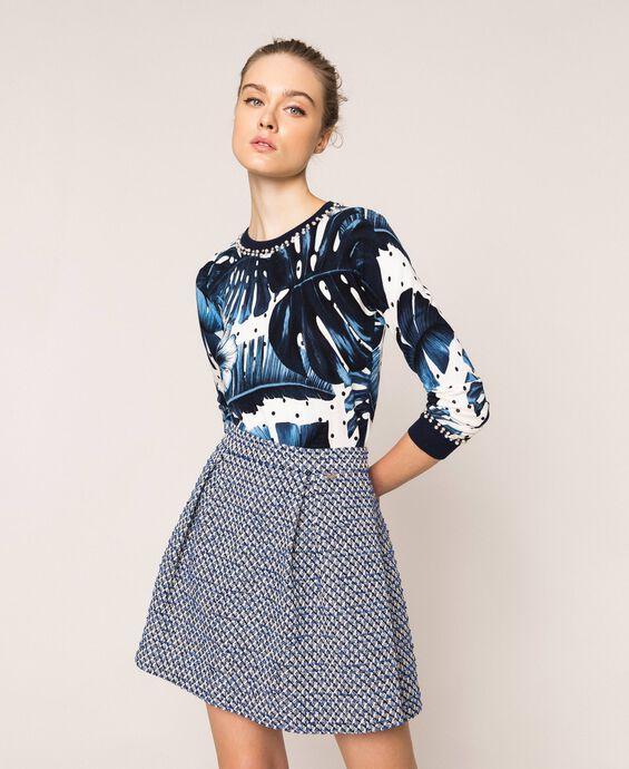 Bouclé miniskirt