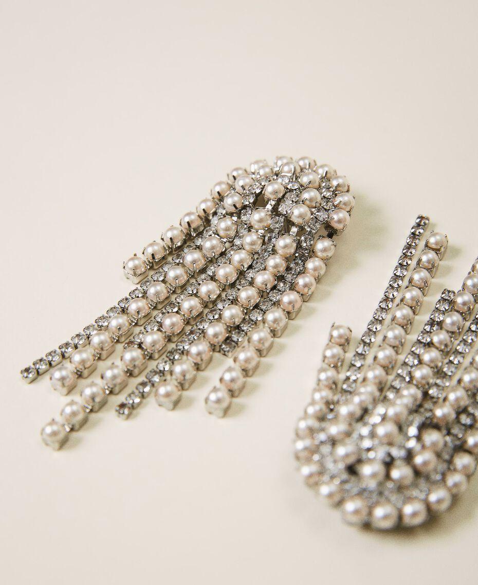 Boucles d'oreilles avec strass et perles Cristal Femme 202TA4312-02