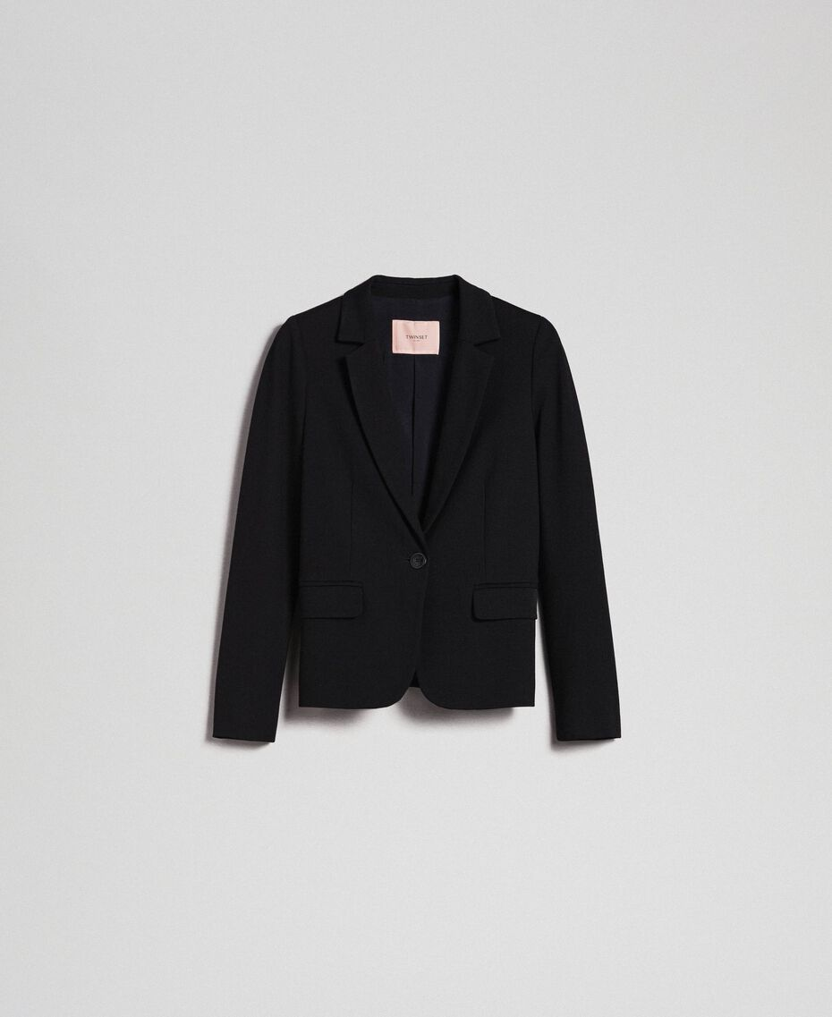 Single breasted blazer Black Woman 192TP2083-0S