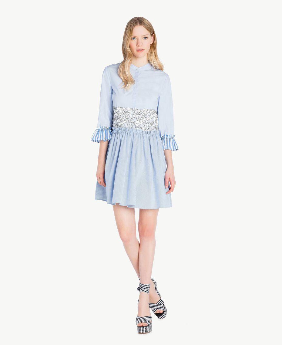 Robe chemisier dentelle Topaze Bleu Femme JS82D5-01