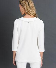Blouse avec broderie de perles Blanc Neige Femme 192TP2080-03