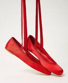 Атласные балетки Персик женщина 202TCP200-01