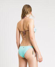 Haut de bikini bandeau avec broderie Bleu Mousse Clair Femme 191LBM111-03
