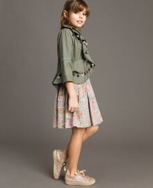 Cotton jacket with mini medals Tundra Green Child 191GJ2070-02