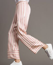 Striped satin trousers Pearl Pink Striping Woman 191TP245B-03