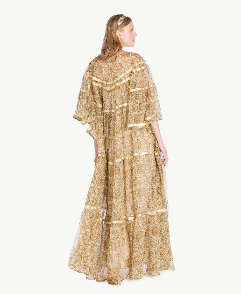Robe soie Imprimé Jaune Grand Cachemire Femme TS825P-03