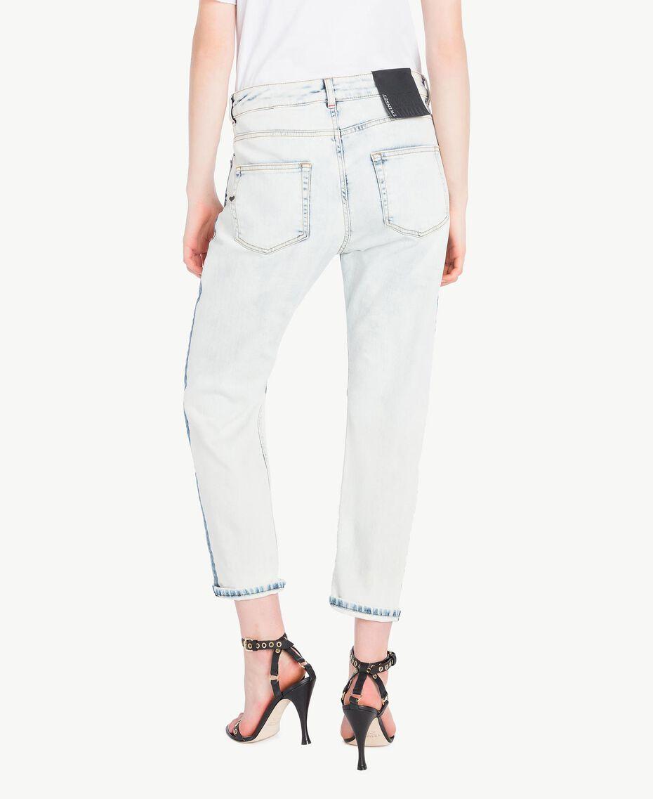 Girlfriend-Jeans Denimblau Frau YS82XZ-03