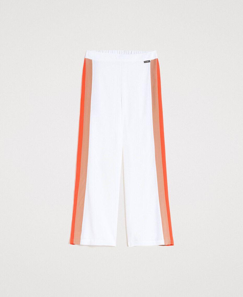 """Pantalon palazzo avec découpes multicolores Multocolore """"Jus d'Orange"""" / Beige """"Voie Lactée"""" / Marron """"Grès de Pétra"""" Femme 191LM2HNN-0S"""