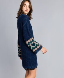 Kleid mit Jacquardherzen Blue Night Frau YA8313-02