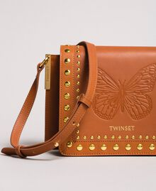Leather Bea shoulder bag Leather Brown Woman 191TO8261-03