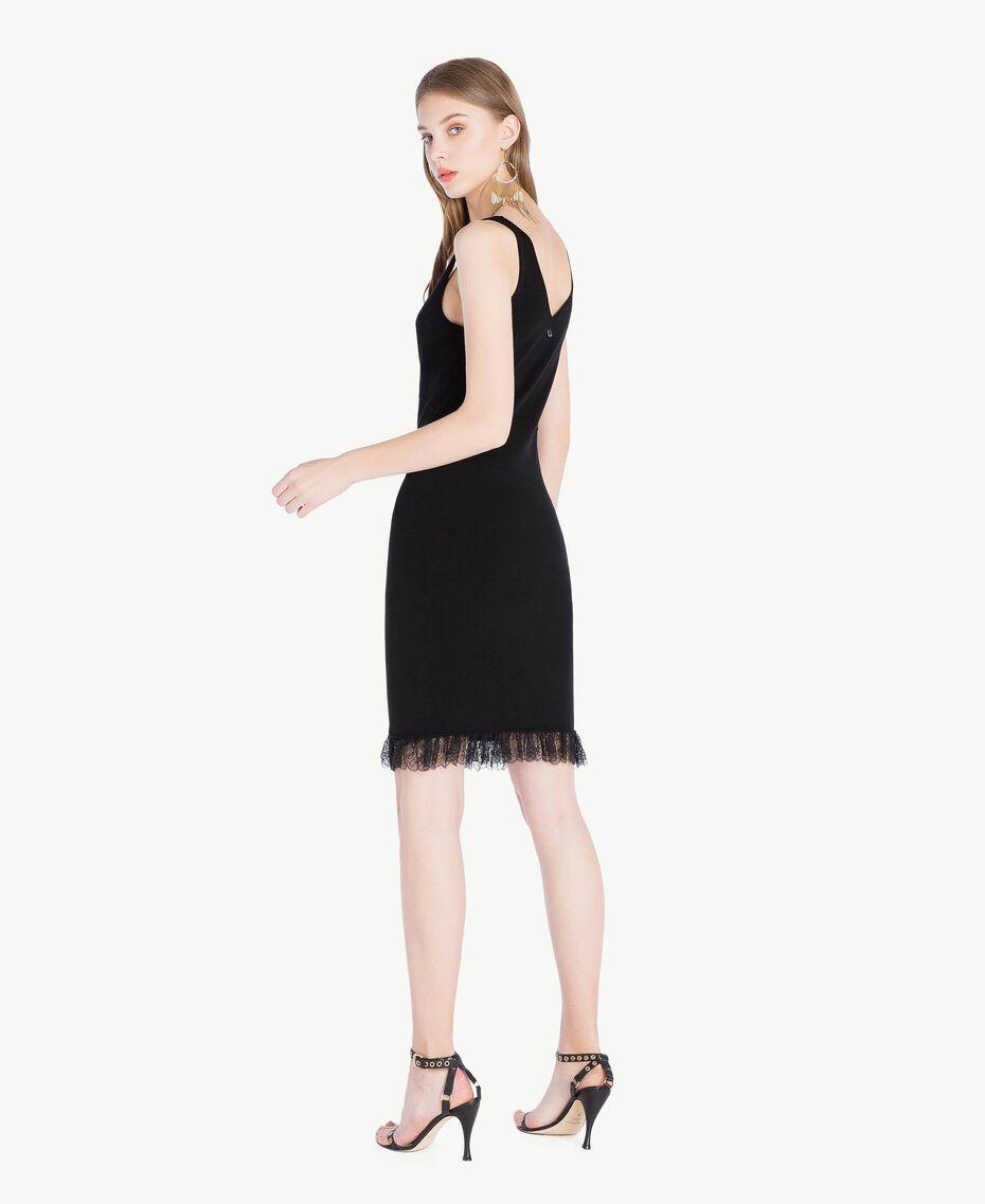 Robe viscose Noir Femme TS832Q-03