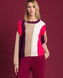 Pull en mélange de laine et alpaga Rose «Rose Brillant» Femme 192MT3074-01