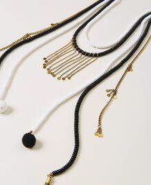 Collier avec perles et franges Multicolore Jaune «Led» / Rose «Néon» Femme 211TO501F-02