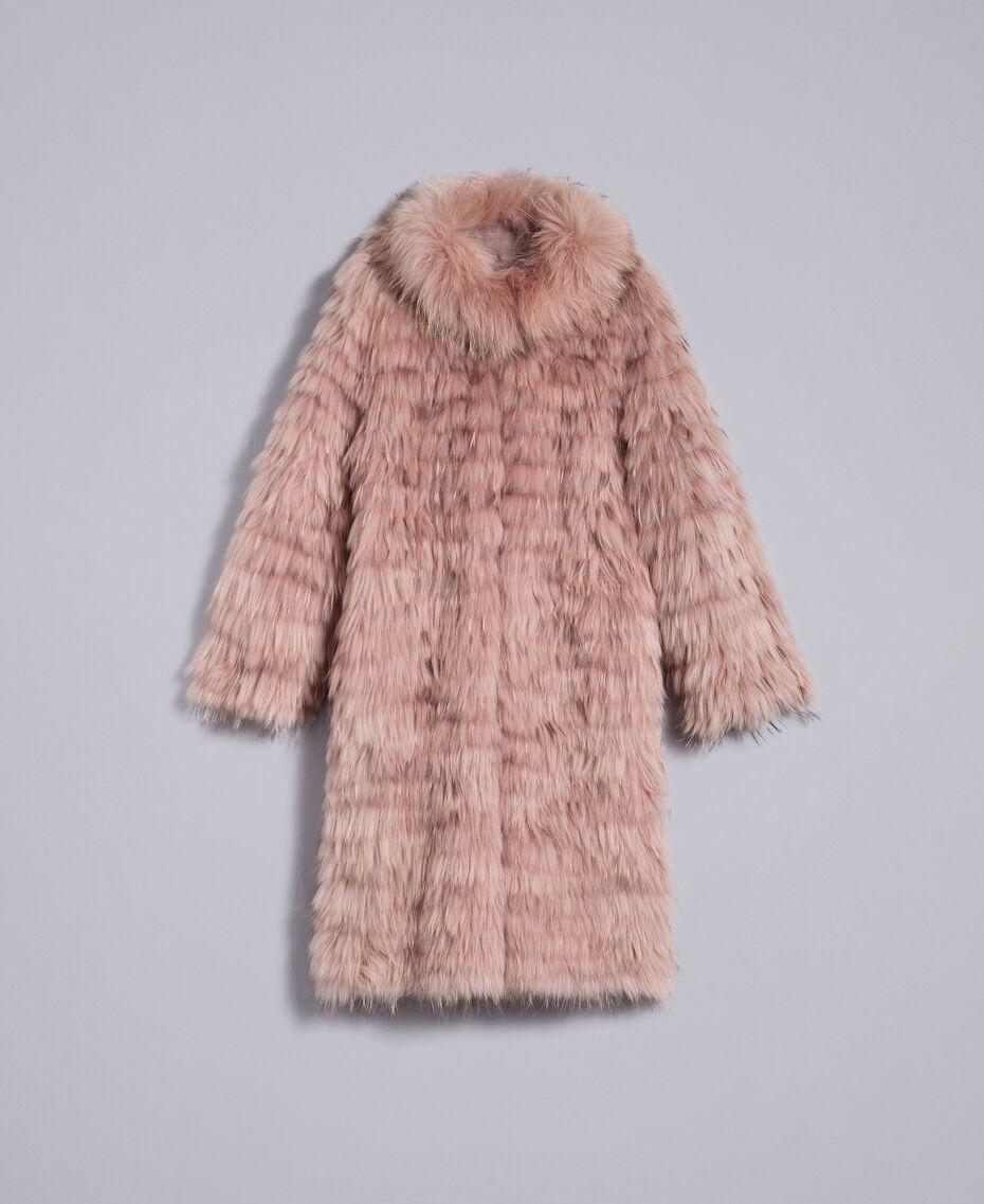 Long fur coat Light Pink Woman PA82LE-0S
